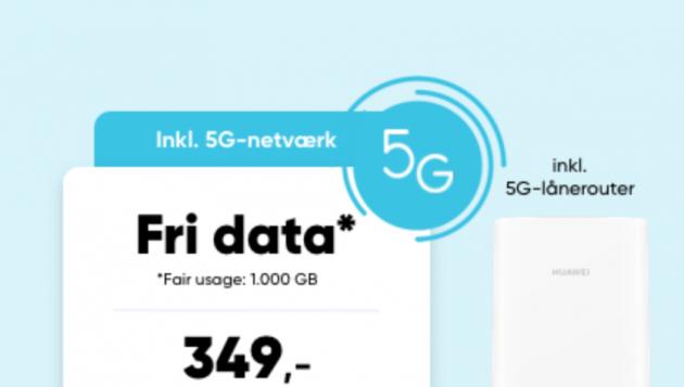 mobilt bredbånd 5G pris