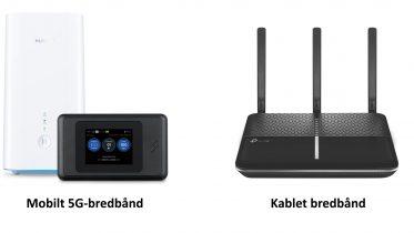 Mobilt bredbånd med 5G eller kablet bredbånd? Her er fordele og ulemper