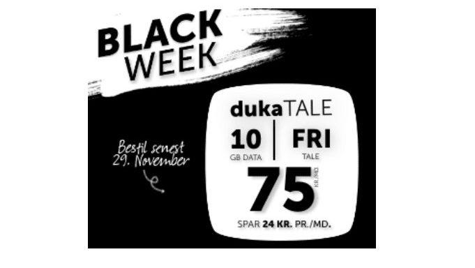 Fri tale og 10 GB til 75 kroner – Black Friday er i gang!