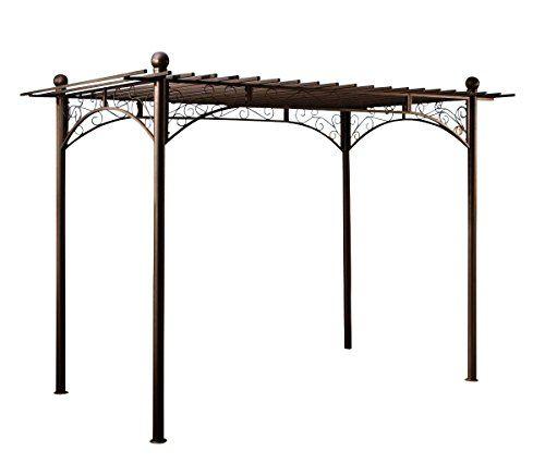 CLP-Metall-Pergola-Pavillon-ULPGAR-01-A-aus-beschichtetem-Eisen-Gre-310-x-186-cm-Hhe-228-cm-anthrazit-0