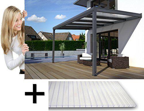 Terrassendach Pergola Überdachung Terrassenüberdachung ALU 16 mm PC Stegplatten