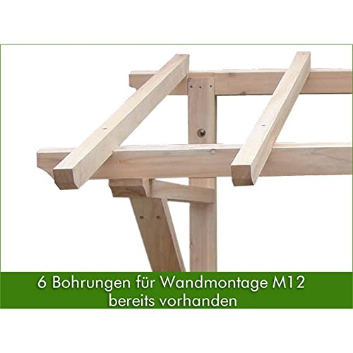 2050 mm holz vordach pultvordach haust r t r berdachung holzvordach ihre terrassen berdachung. Black Bedroom Furniture Sets. Home Design Ideas