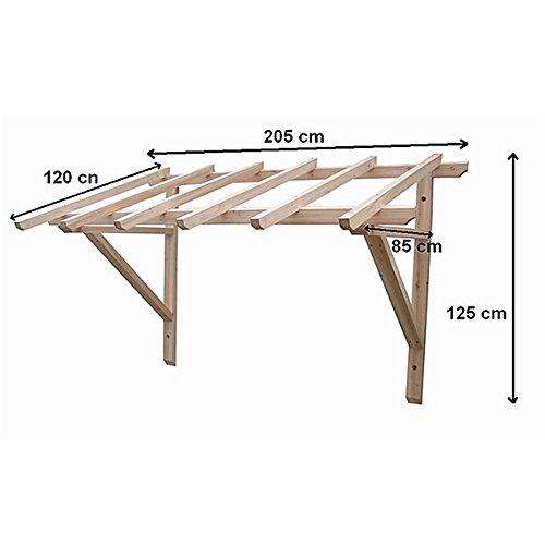 2050 mm holz vordach pultvordach haust r t r berdachung holzvordach ihre terrassen berdachung. Black Bedroom Furniture Sets. Home Design Ideas