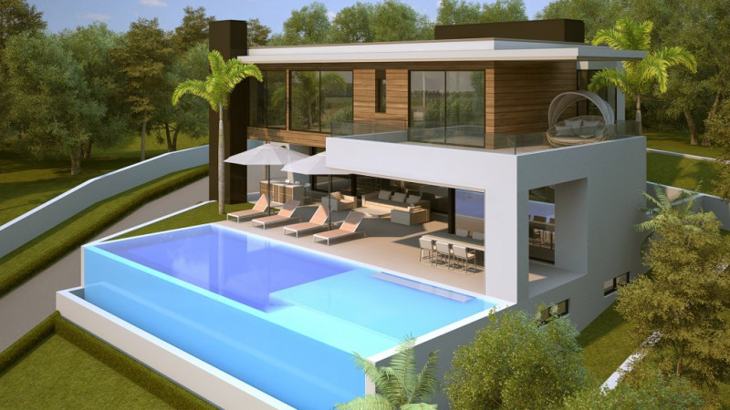 Plot in Benahavis with project and license