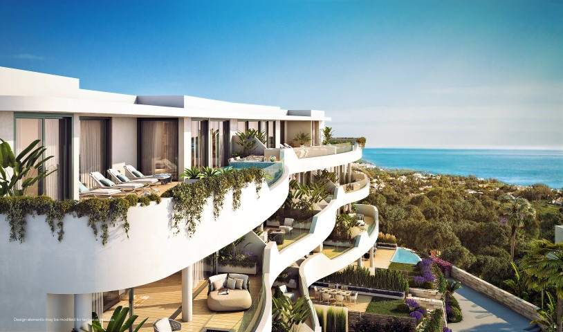 The luxury 2, 3, 4 bed apartments and garden or sky villas
