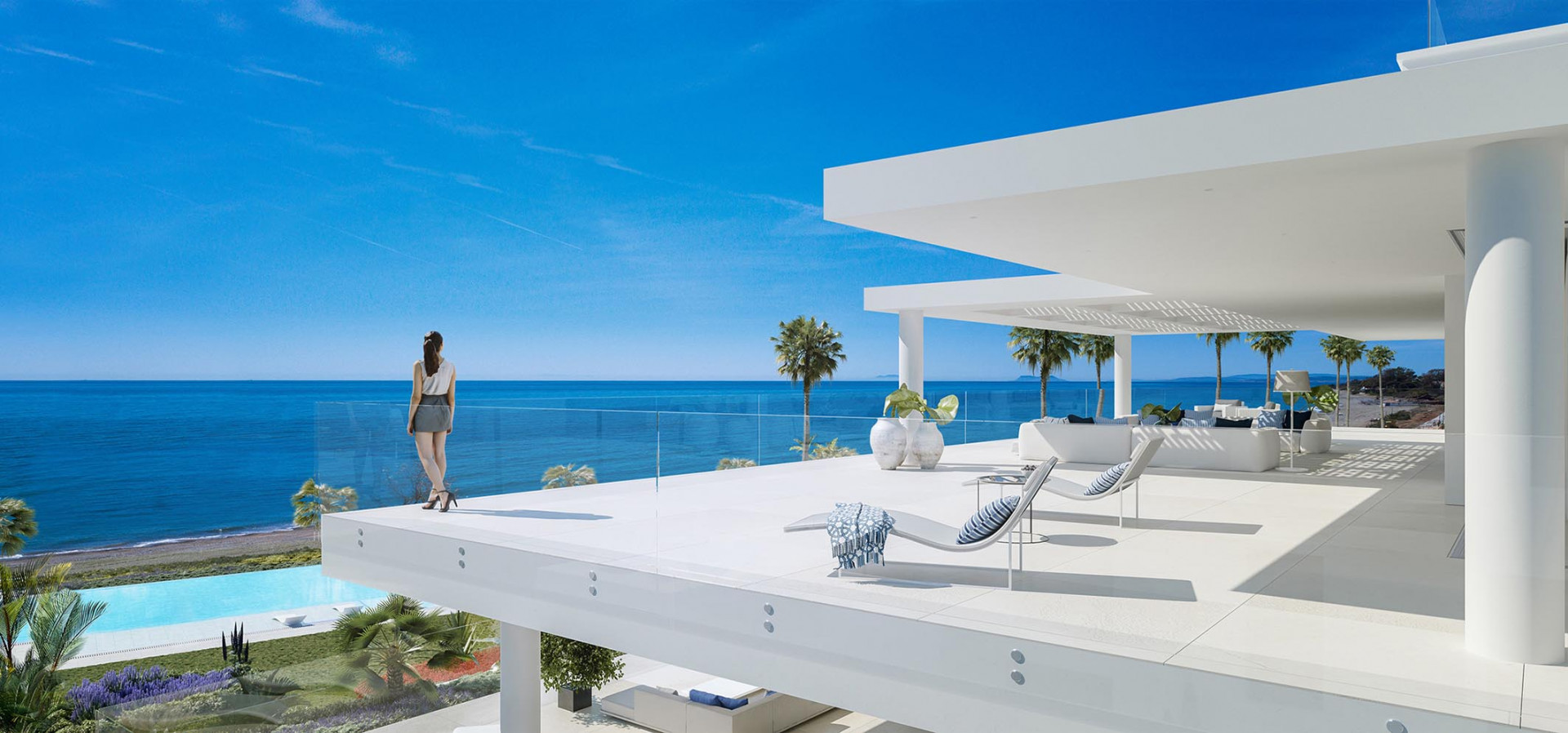 Only 28 amazingly large 3 & 4 bedroom residences on the front line of the Mediterranean Sea.