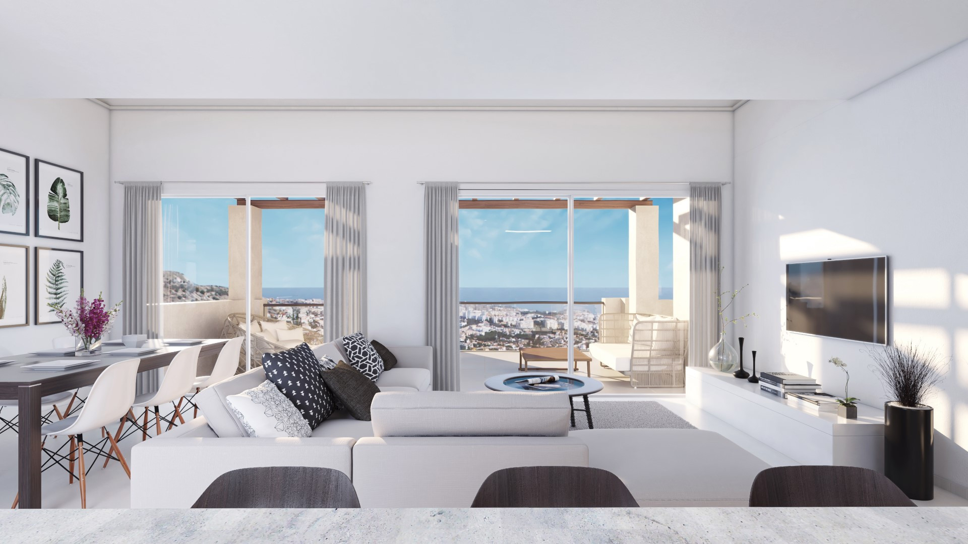 High Quality Residential Townhouses and Penthouses with  Spectacular panoramic sea views Benalmadena