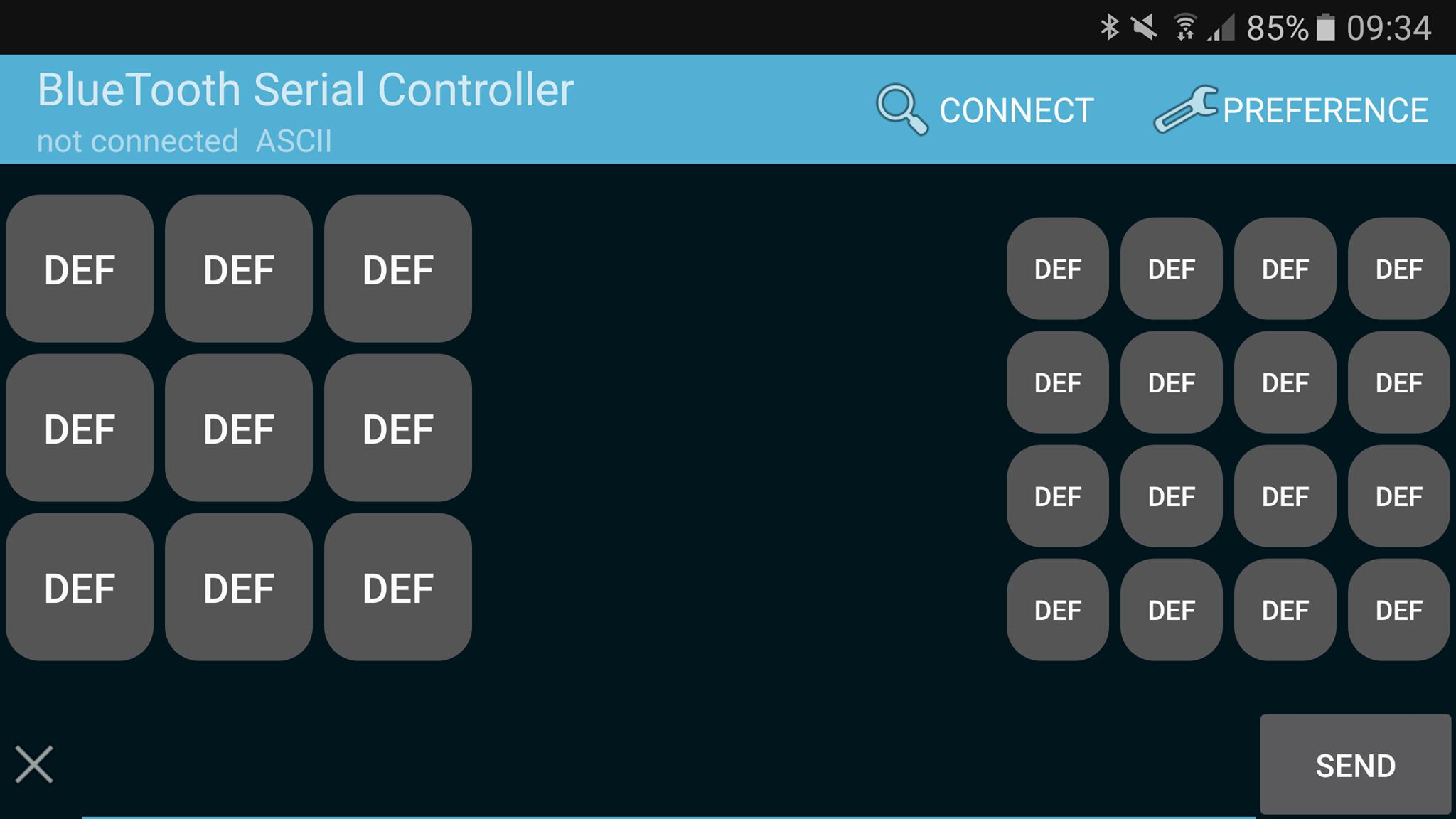 écran d'accueil de l'application