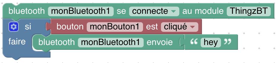 programme d'envoie bluetooth si bouton appuyé