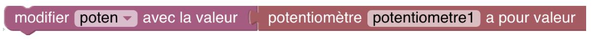 bloc variable avec valeur potentiomètre