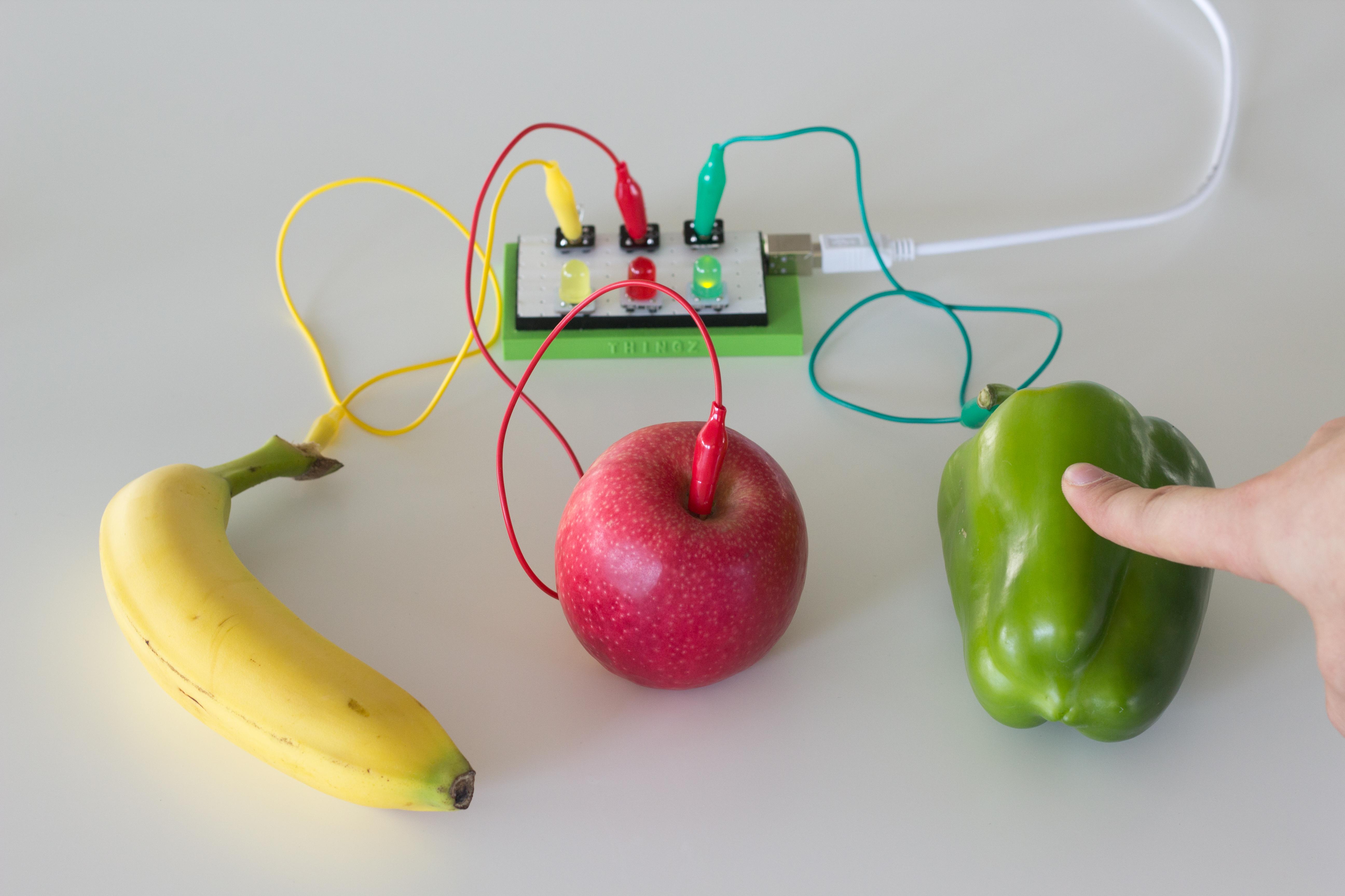 photo résultats makey makey avec fruits