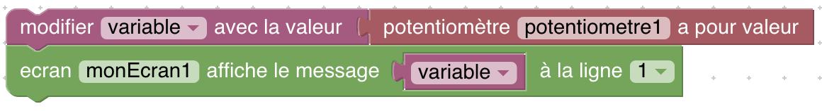 exemple d'utilisation de variable