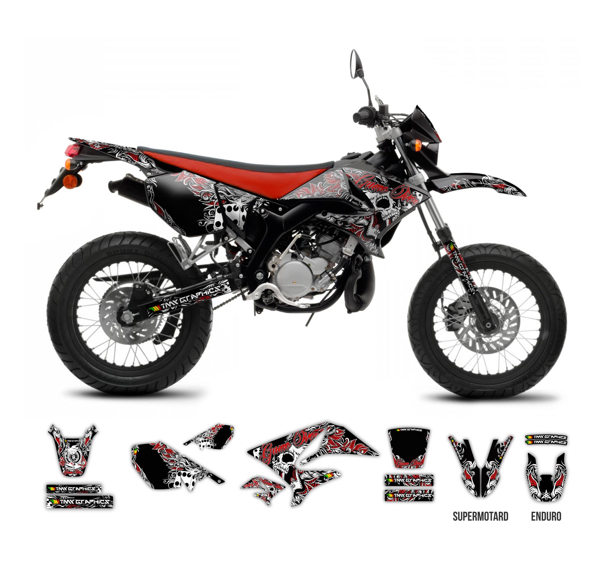 YAMAHA DT 125 RE/X - Rockstar Fox Graphics Series | TMX