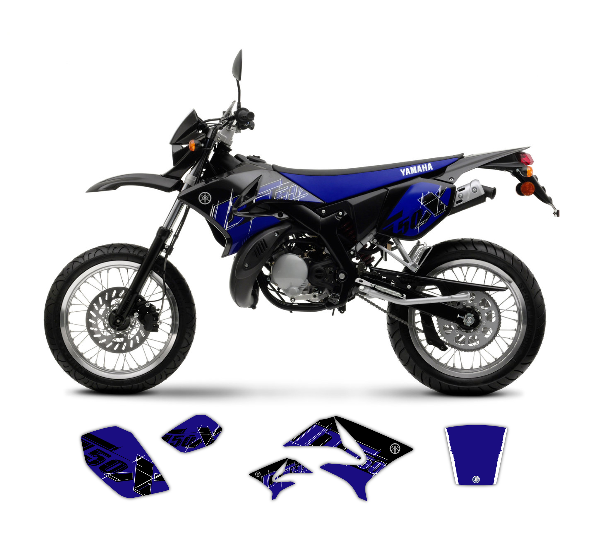 yamaha dt 50 x r replica graphics kit 2008 model tmx graphics. Black Bedroom Furniture Sets. Home Design Ideas