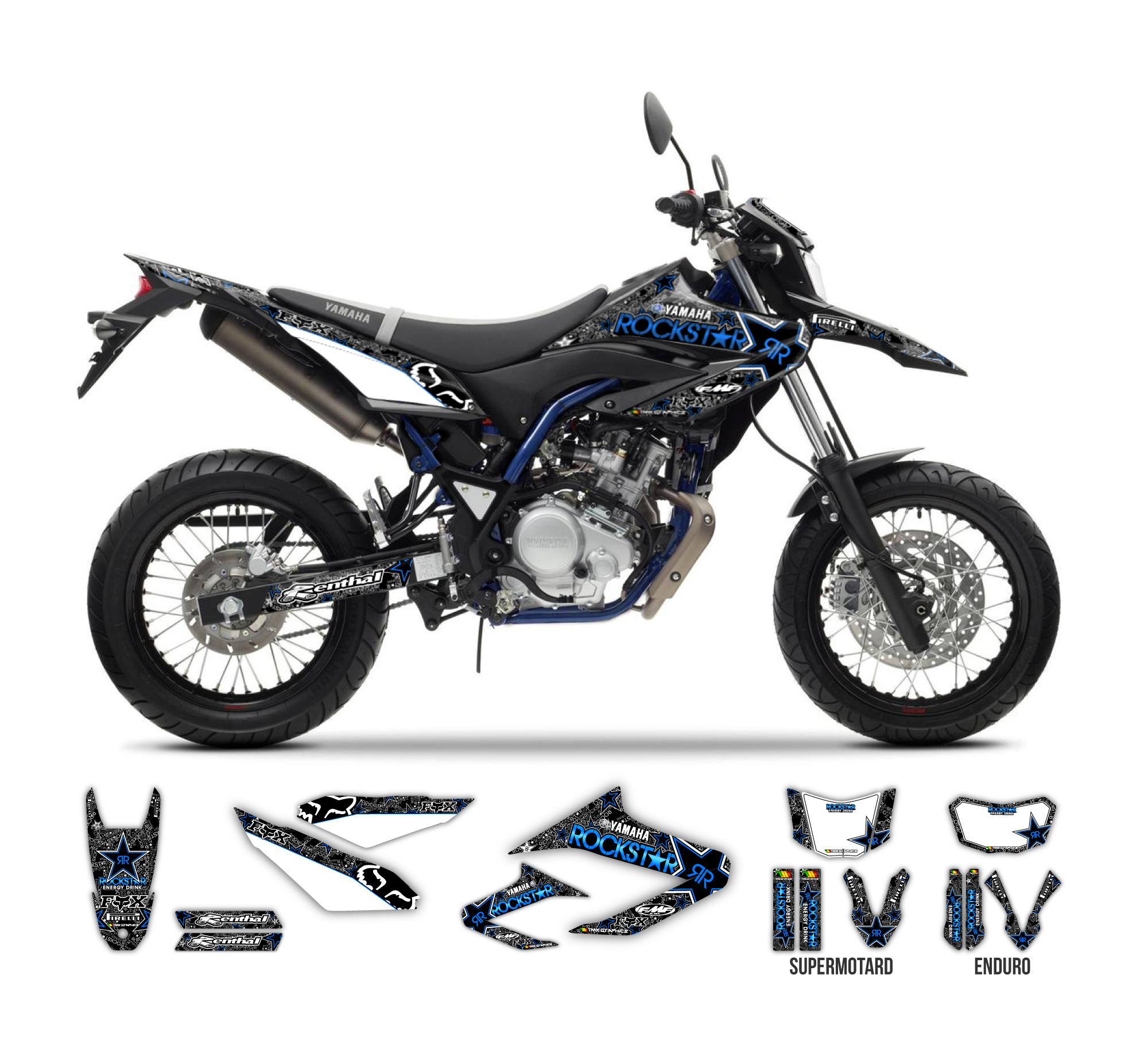 Yamaha wr 125 r x rockstar fox graphics series tmx for Yamaha warranty registration
