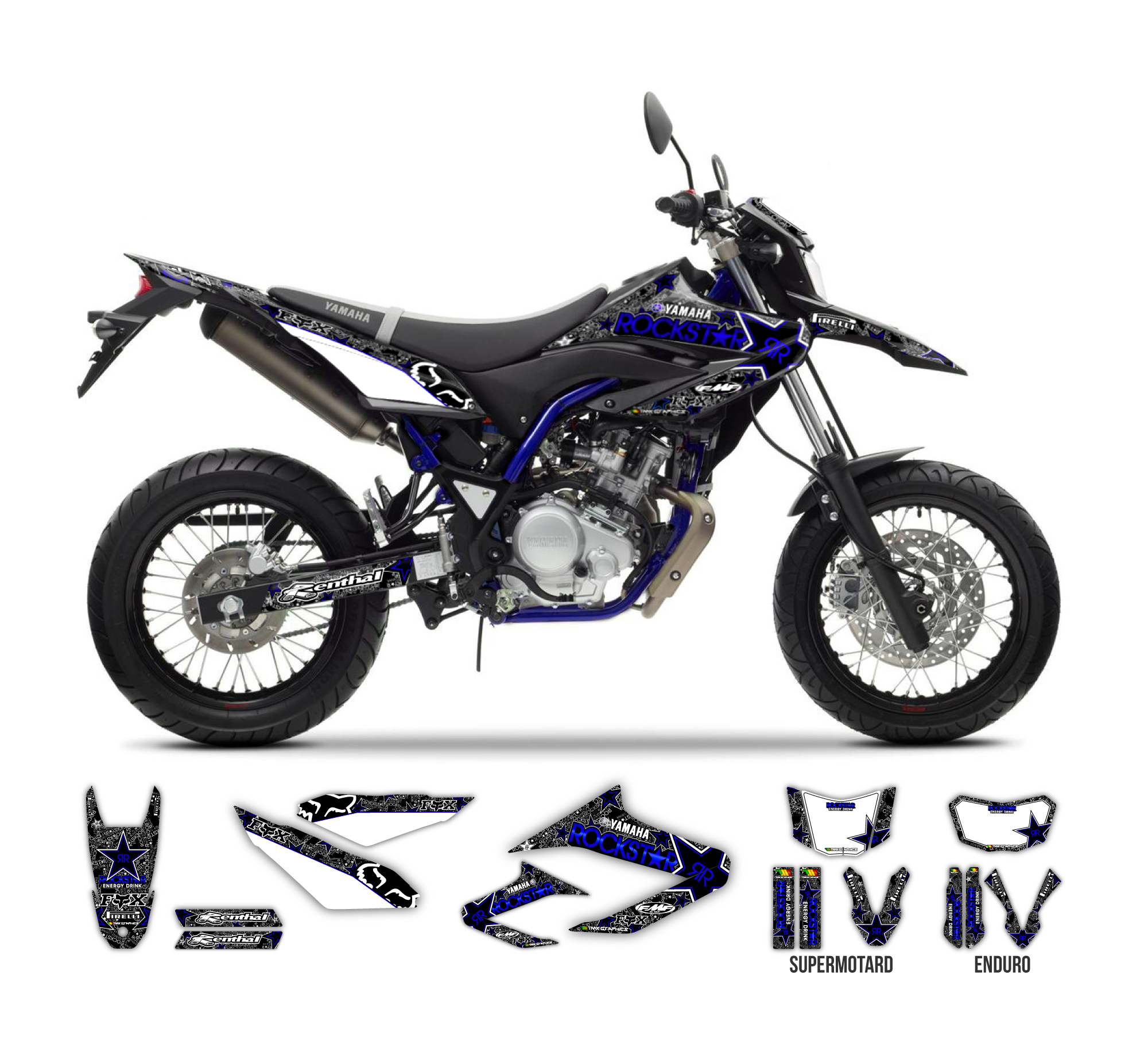 yamaha wr 125 r x rockstar fox graphics series tmx. Black Bedroom Furniture Sets. Home Design Ideas