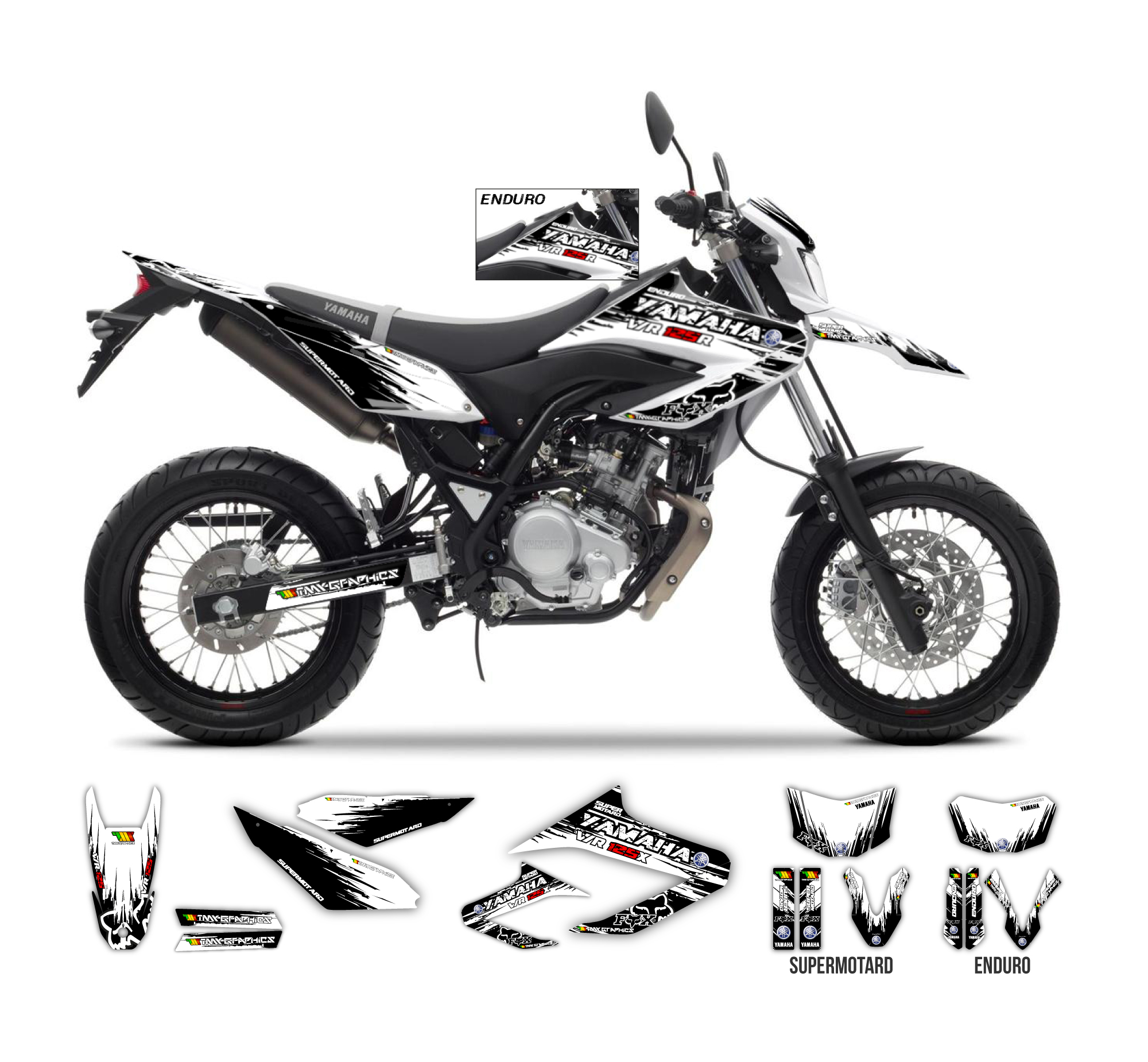 yamaha wr 125 r x burnout graphics series tmx graphics. Black Bedroom Furniture Sets. Home Design Ideas