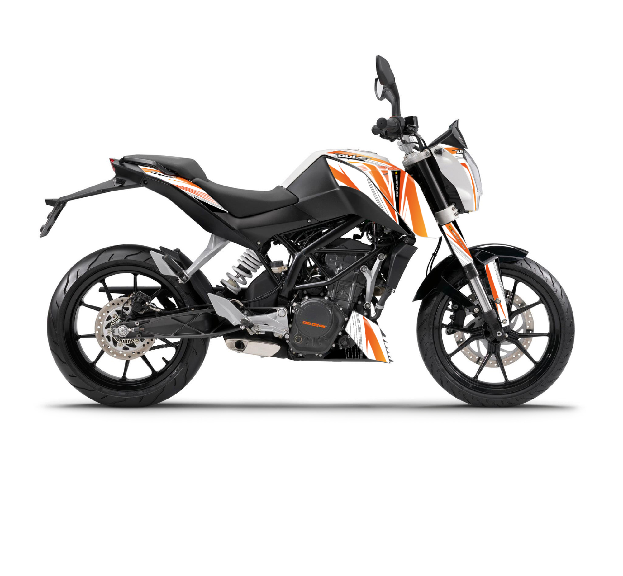 ktm duke 125 390 the one graphics series white tmx. Black Bedroom Furniture Sets. Home Design Ideas