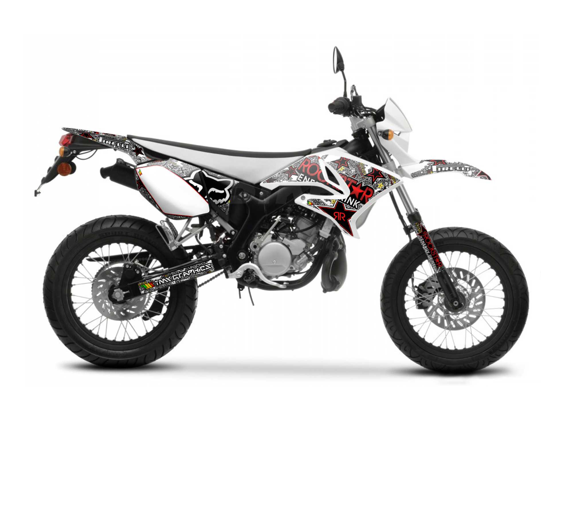 Yamaha dt 50 x r rockstar fox graphics series white for Yamaha warranty registration