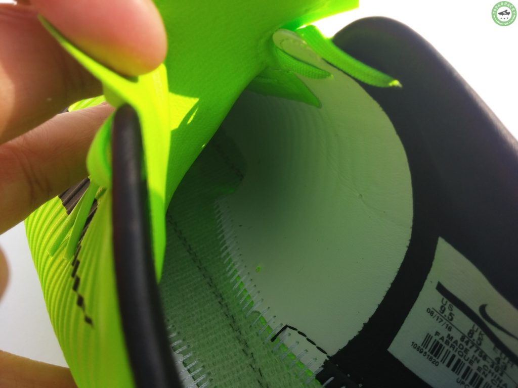 vnitřek kopačky Nike Mercurial Veloce 3