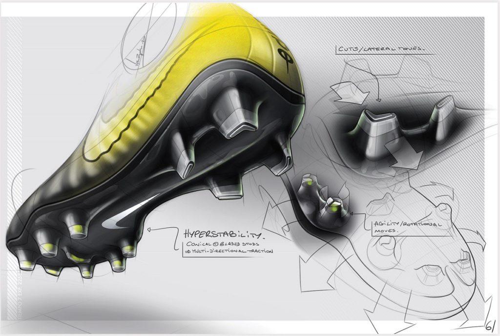 Nike Tiempo Legend 7 skica podrážka zadní část