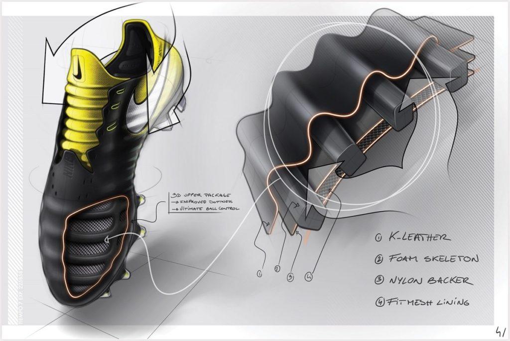 Nike Tiempo Legend 7 skica vnitřní kostrukce