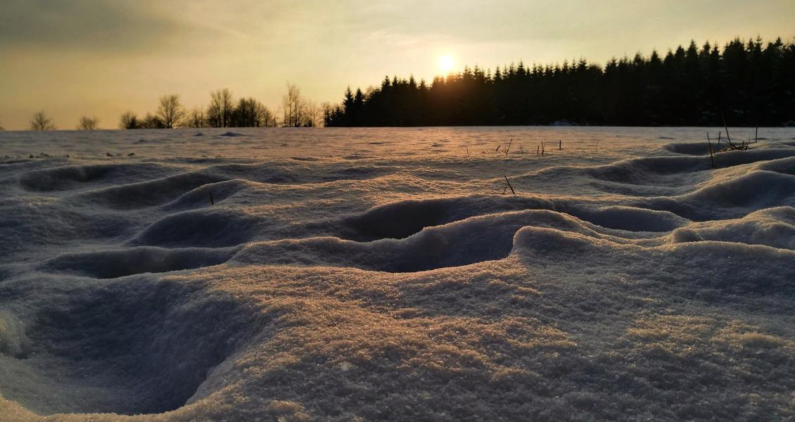 Winterwunderland am Kyrill-Pfad in Schanze