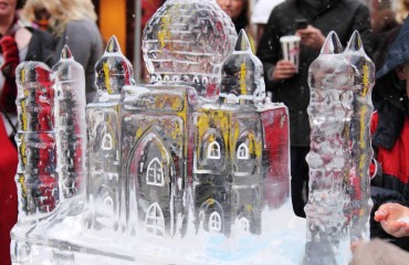 festiwal rzeźby lodowych w Poznaniu