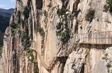 El Chorro w Andaluzji w Hiszpanii