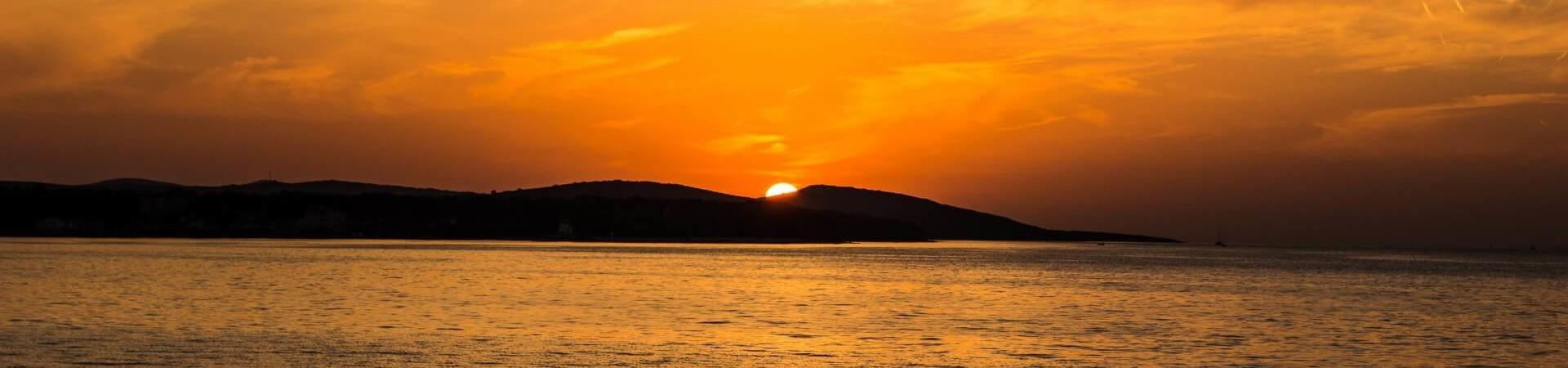 zachód słońca na wyspie Vir