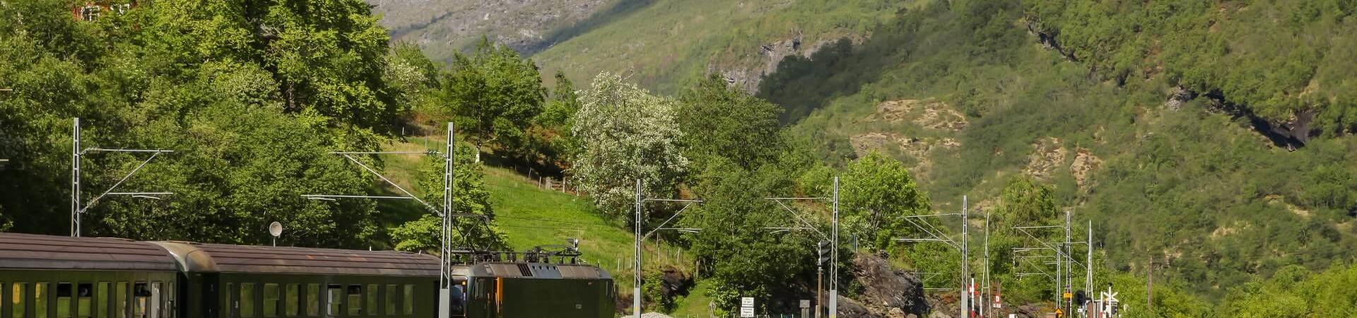 Flamsbana kolej w Norwegii