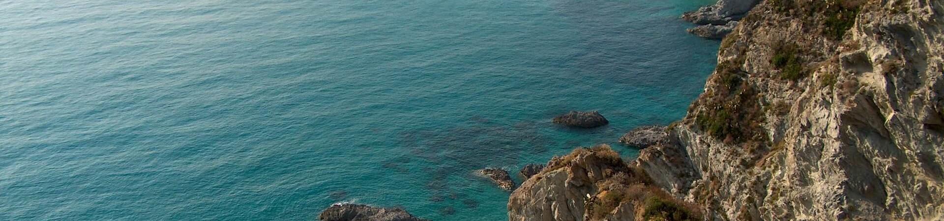 Calabria wzgórze plaża