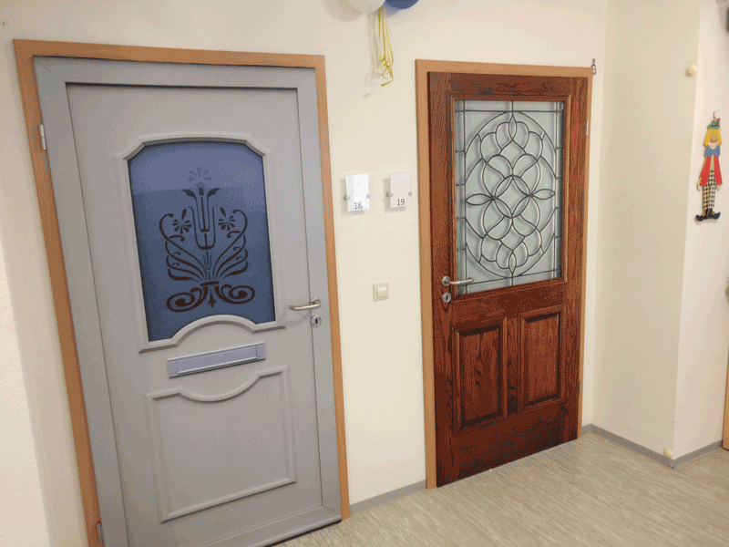A True Doors transformation at Seniorenresidenz Kinzigtal in Gengenbach Germany using Bouquet from the collection