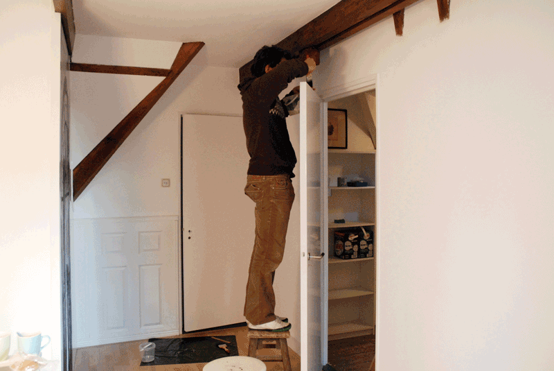 During the True Doors transformation at a family home in Zeist Utrecht