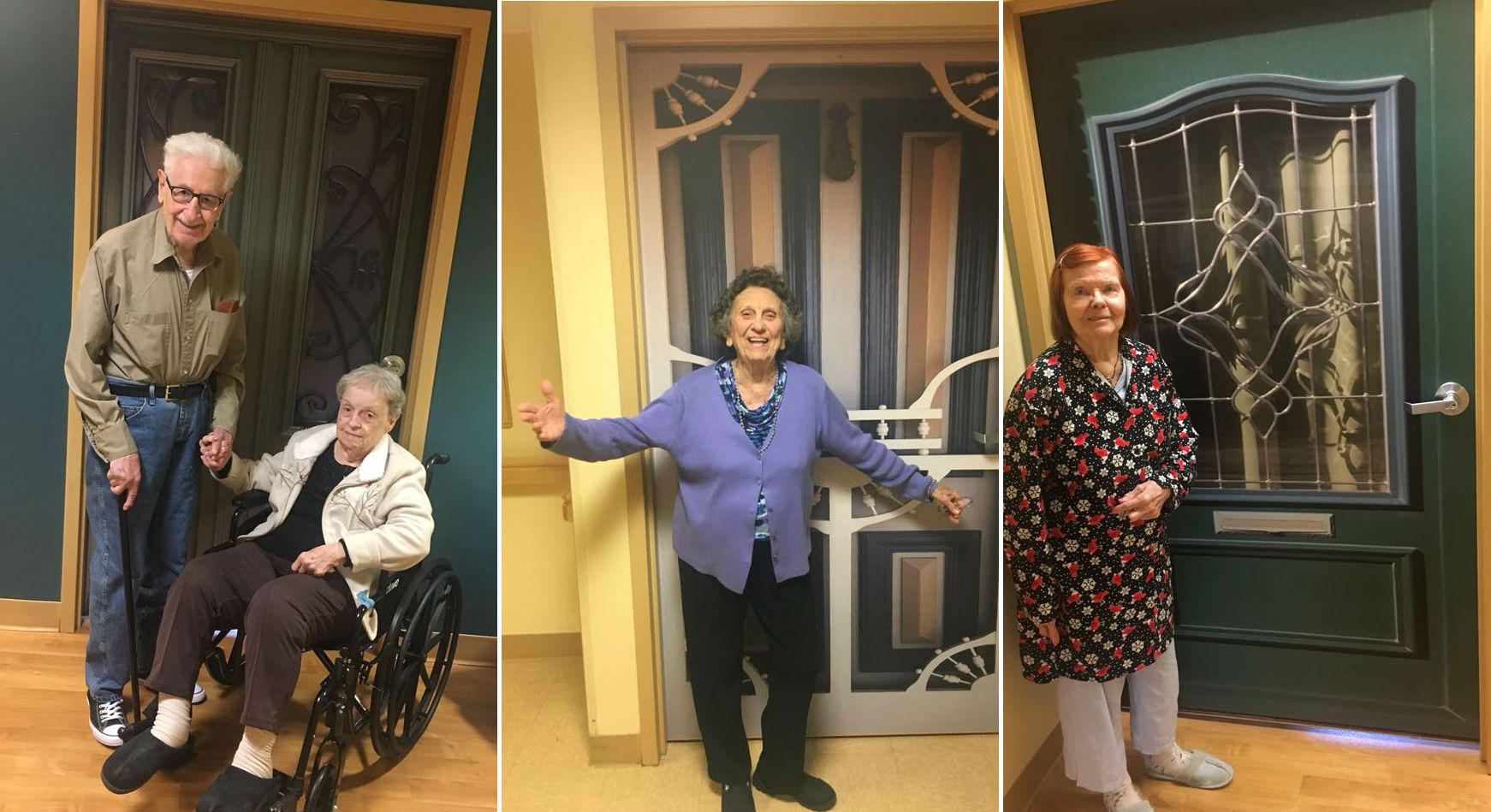 Happy elders with their True Doors