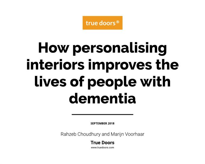 How personalising interiors improves the lives of people with dementia - A True Doors Report