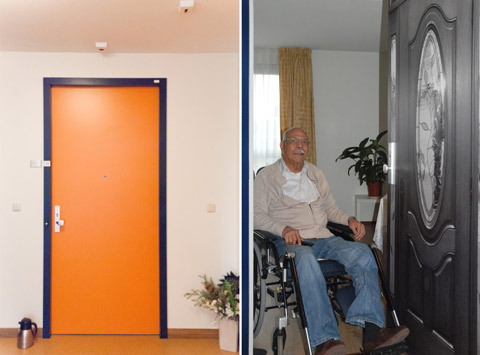 Before and after at the Pieter van Foreest Weidevogelhof nursing home for Mr. Rojas