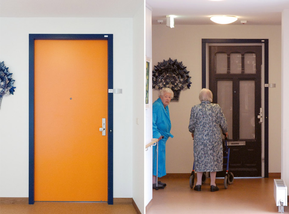 Before and after at the Pieter van Foreest Weidevogelhof nursing home for Mr. Hofman
