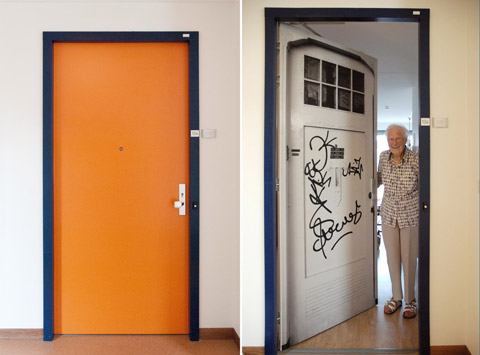 Before and after at the Pieter van Foreest Weidevogelhof nursing home for Ms Eichhorn