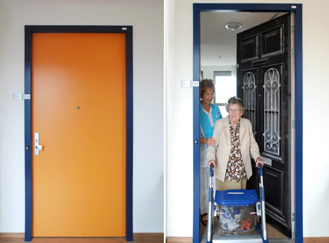 Before and after at the Pieter van Foreest Weidevogelhof nursing home for Ms. Heijningen