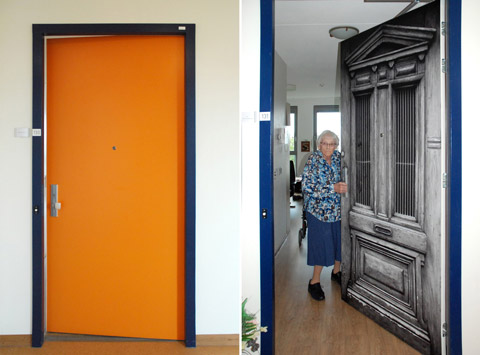 Before and after at the Pieter van Foreest Weidevogelhof nursing home for Ms. Hulleman