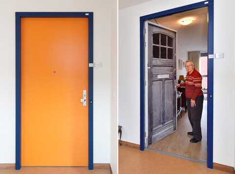 Before and after at the Pieter van Foreest Weidevogelhof nursing home for Ms Louwen
