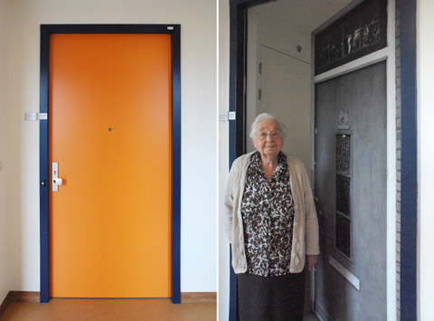 Before and after at the Pieter van Foreest Weidevogelhof nursing home for Mrs Roodenburg