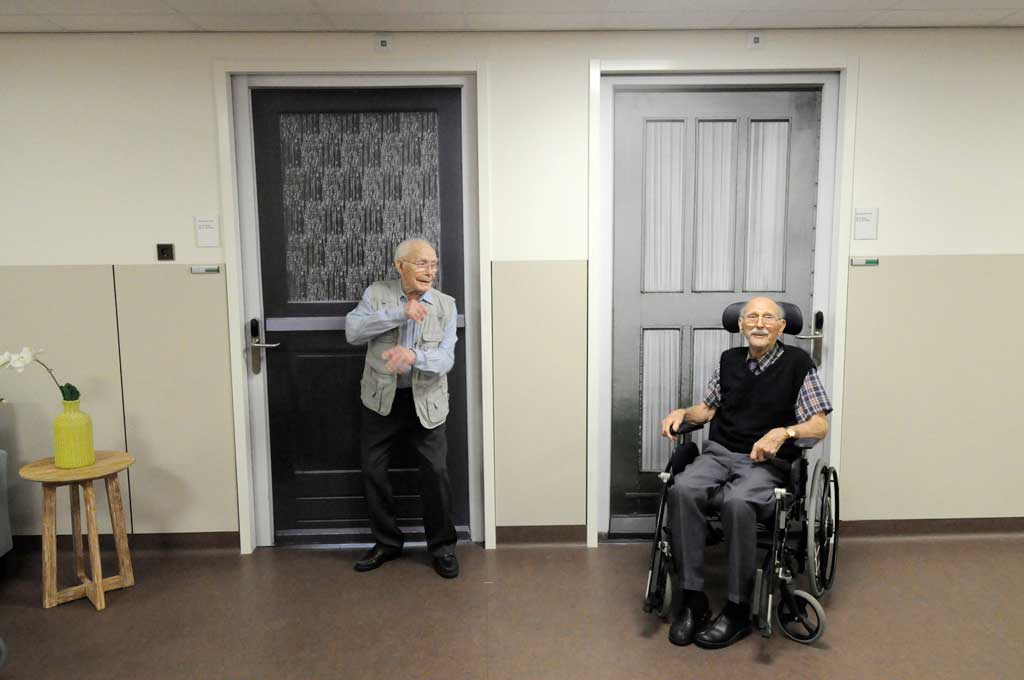 True Doors project at Oosterlengte Old Wolde Nursing home in Winschoten Netherlands