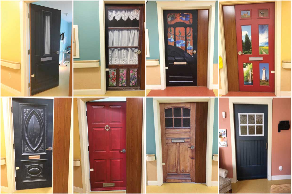 Students help to use True Doors as a tool for person-centered care at Nashwaak Villa in Canada