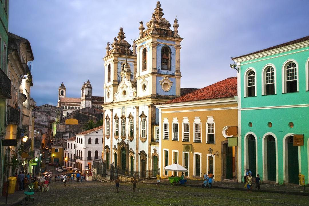 Iglesia Rosario dos Pretos en Salvador da Bahia