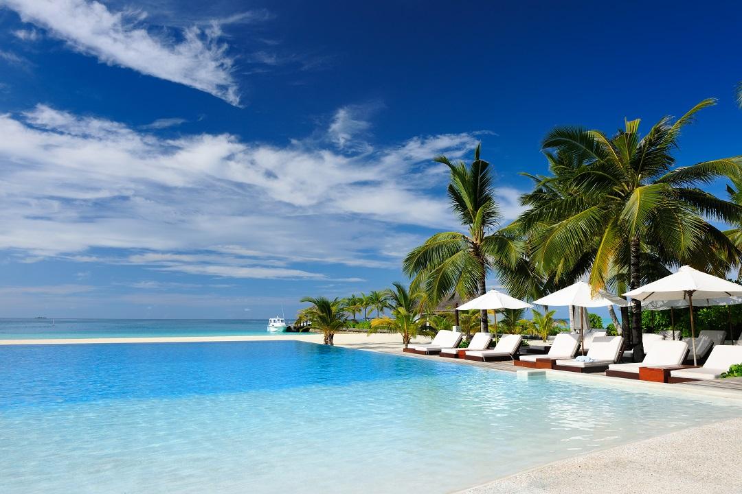 Resort en las islas Maldivas