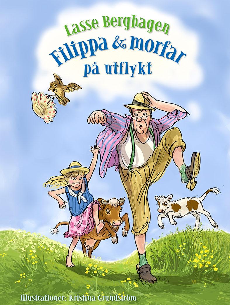 Filippa och morfar på utflykt