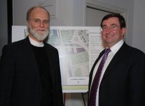 Отець Борис Ґудзяк і архітектор Іван Бережницький в Українському музеї в Нью-Йорку