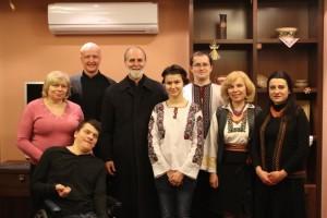 Владика Борис з кураторами Колегіуму УКУ